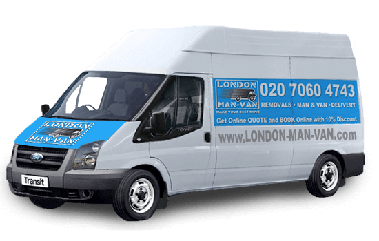 Extra Large Removals Van in Carshalton